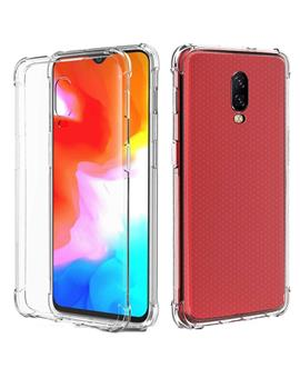 TBZ Soft Silicon Transparent Bumper Corner TPU Case Cover for OnePlus 6T