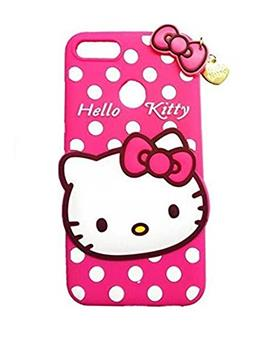 TBZ Cover for Oppo F9 Pro Cute Hello Kitty Soft Rubber Silicone Back Case Cover for Oppo F9 Pro -Pink