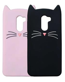 TBZ Cat Cartoon Rubber Back Case Cover for Poco F1