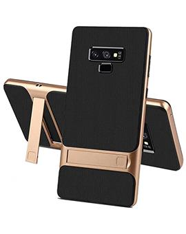 Samsung Galaxy Note 9 - Dual Layer Armor PC Frame TPU Shock Proof Silicone Kickstand Back Cover Case for Samsung Galaxy Note 9 -Golden