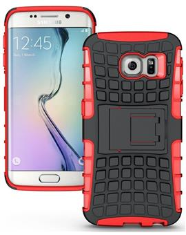 TBZ Hard Grip Rubberized Kickstand Back Cover Case For samsung Galaxy S7 edge