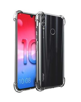 RRTBZ Cover for Huawei Honor 10 Lite Transparent Bumper Corner Soft Silicon Flexible TPU Case Cover for Huawei Honor 10 Lite
