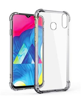 RRTBZ Cover for Samsung Galaxy M20 Transparent Bumper Corner Soft Flexible TPU Case Cover for Samsung Galaxy M20