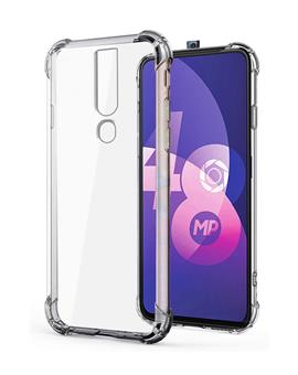 RRTBZ Oppo F11 Pro Case Back Cover [Drop Defense Series] Full Body Protective Soft Phone Mobile Cover with Screen Camera Protection Bumper Corner for Samsung M30 (2019) (Transparent)