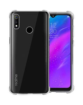 RRTBZ Realme 3 Case Back Cover [Drop Defense Series] Full Body Protective Soft Phone Mobile Cover with Screen Camera Protection Bumper Corner for Realme 3 (2019) (Transparent)