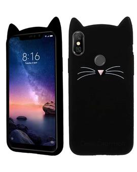 Case for Samsung Galaxy M20 Cat Cartoon Soft Rubber Silicone Back Case Cover for Samsung Galaxy M20 -Black