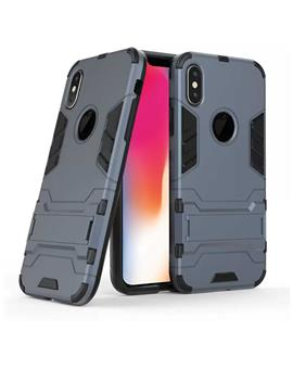 Case for iPhone X Tough Heavy Duty Shockproof Armor Defender Dual Protection Layer Hybrid Kickstand Back Case Cover for Apple iPhone X / XS