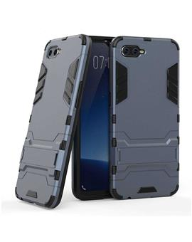 Case for Oppo K1 Tough Heavy Duty Shockproof Armor Defender Dual Protection Layer Hybrid Kickstand Back Case Cover for Oppo K1