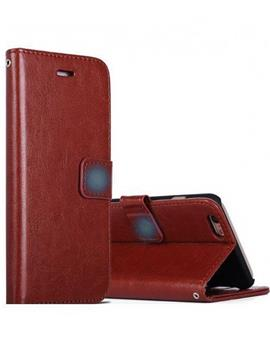 Leather Diary Wallet Book Flip Cover Case for RealMe 3 -Brown