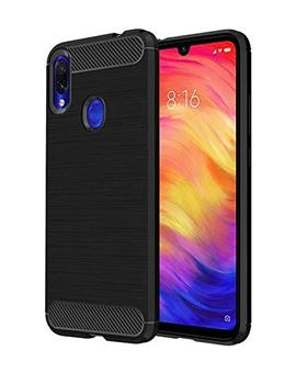 Soft Silicone Corbon Flexible Back Cover for Xiaomi Redmi Note 7 / Xiaomi Redmi Note 7 Pro -Black