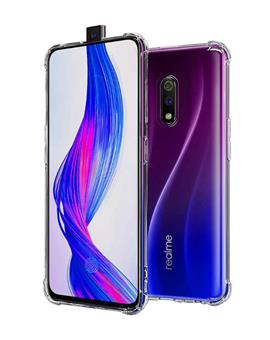 Case for Realme X Transparent Bumper Corner Soft Silicone TPU Flexible Back Cover for Realme X