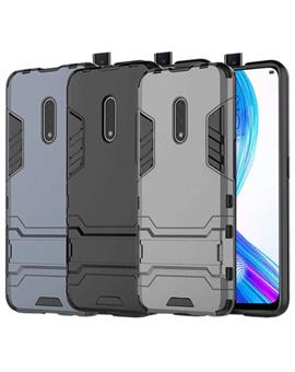 Cover for Realme X -Heavy Duty Shockproof Dual Protection Layer Kickstand Back Cover Case  for Realme X