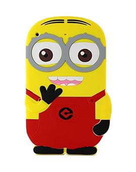 Cute Cartoon Minion Soft Rubber Silicone Back Case Cover for Apple iPad Mini 1 2 3