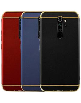 Case for Xiaomi Redmi Note 8 Pro Ultra-thin 3 in 1 Cracking Electroplate Metal Texture Hard Back Case Cover for Xiaomi Redmi Note 8 Pro
