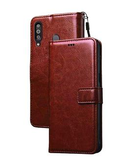 Flip Case for Redmi K30 / Poco X2 Leather Foldable Stand Diary Wallet Flip Cover Case for Redmi K30 / Poco X2 -Brown