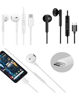 Type C Earphones for Rich Bass and Noise Cancellation, Unique Sports Earphone with USB Type C Port (Compatible with OnePlus 6 6T 7 7T 7Pro 8 8T 8Pro Nord,Oppo,VIVO)
