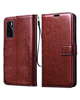 Wallet Flip Cover Case for Vivo Y70 / Vivo V20 SE -Brown
