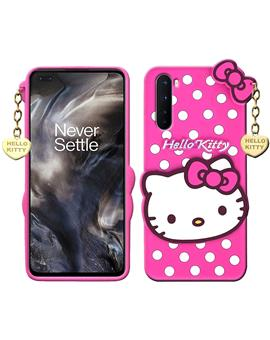 Hello Kitty Silicone Rubber Back Cover for OnePlus Nord