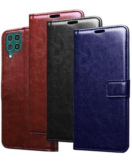Wallet Flip Cover Case for Samsung Galaxy F62
