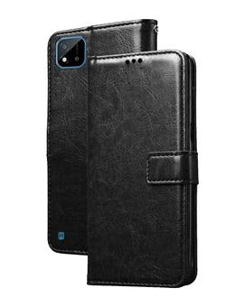 Stand Diary Wallet Flip Cover Case for Realme C20