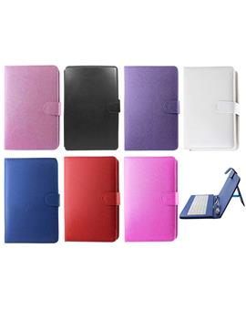 TBZ In-built Leather QWERTY Keyboard Case for 7inch Tablet With Micro OTG and Stylus