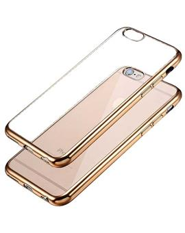 TBZ Ultra Slim Luxury Electroplating Soft Clear Transparent Back Cover for Apple iPhone 6 / 6S