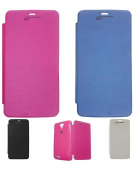 TBZ Flip Cover Case for Micromax Canvas Juice A177 / A77
