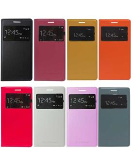 TBZ Leather Flip Cover S View Case for Samsung Galaxy Grand 2 G7102
