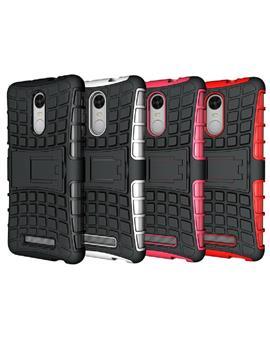 TBZ Hard Grip Rubberized Kickstand Back Cover Case for Xiaomi Redmi Note 3