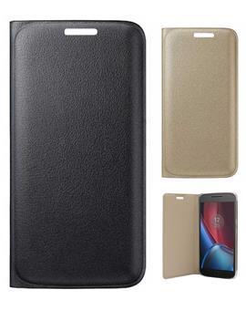 TBZ PU Leather Flip Cover Case for Motorola Moto G4 Plus