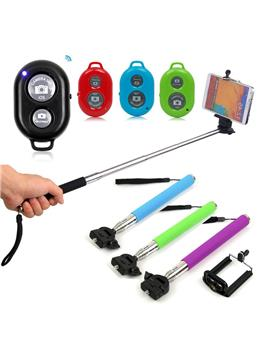 Selfie Stick With Bluetooth Remote Monopod