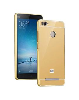 TBZ Metal Bumper Acrylic Mirror Back Cover Case for Xiaomi Redmi 3s Prime / Xiaomi Redmi 3s