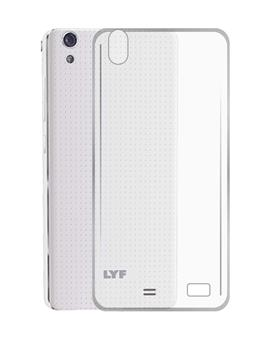 TBZ Transparent Silicon Soft TPU Slim Back Case Cover for Lyf Water 4