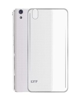 TBZ Transparent Silicon Soft TPU Slim Back Case Cover for Lyf Water 6