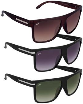 TBZ Luxury Metal Rectangular Wayfarer Sunglasses