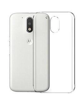 TBZ Transparent Silicon Soft TPU Slim Back Case Cover for Motorola Moto M
