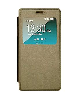 TBZ Window Premium Flip Cover Case for Oppo A37 -Gold