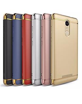 TBZ Xiaomi Redmi Note 3 Ultra-thin 3 in 1 Anti-Scratch Anti-fingerprint Shockproof Resist Cracking Electroplate Metal Texture Armor PC Hard Back Case Cover