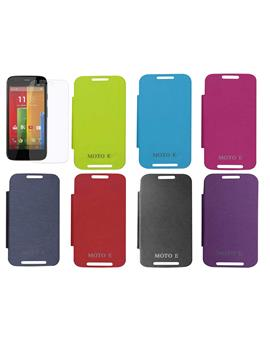 TBZ Flip Case Cover For Motorola Moto E XT1022