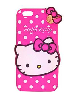 TBZ Apple iPhone 6 Cute Hello Kitty Soft Rubber Silicone Back Case Cover