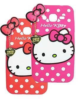 TBZ Samsung Galaxy Grand 2 Cute Hello Kitty Soft Rubber Silicone Back Case Cover