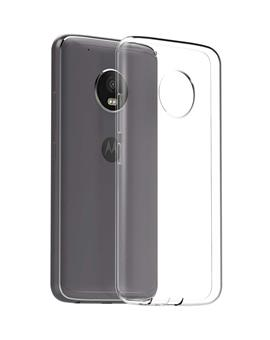 TBZ Transparent Silicon Soft TPU Slim Back Case Cover for Motorola Moto G5 Plus
